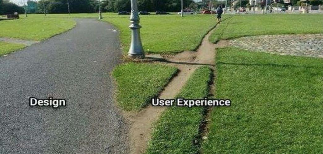 Métaphore du chemin : Design versus User Expérience