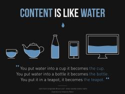 le contenu c'est de l'eau