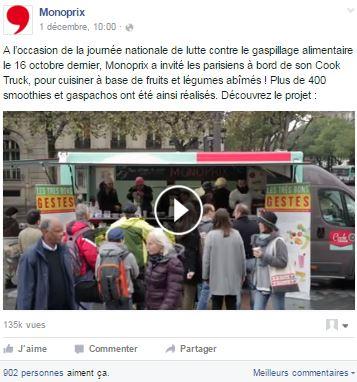 post facebook monoprix