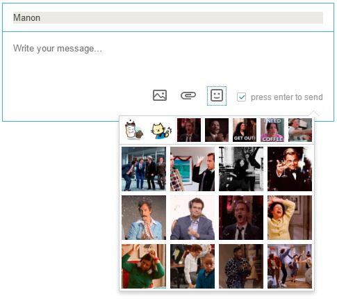 Intégré un GIF animé dans une conversation Linkedin