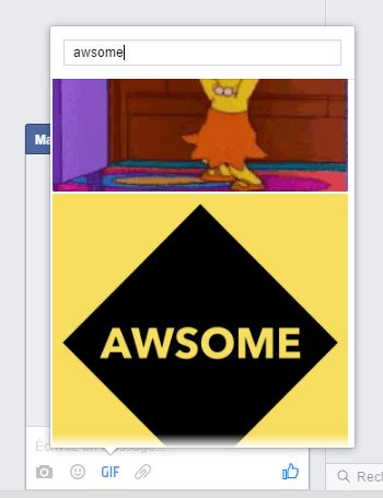 Intégrer un GIF animé dans Facebook Messenger