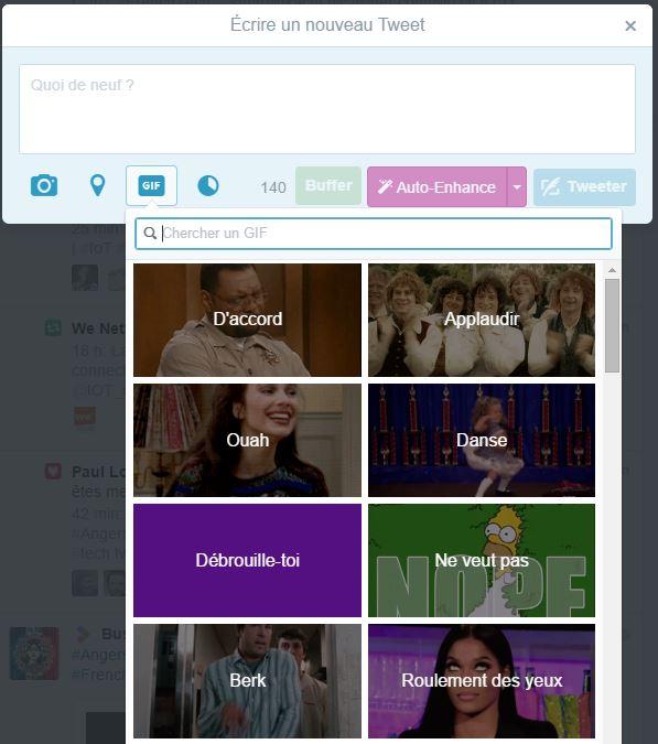 Intégrer un GIF animé dans un tweet